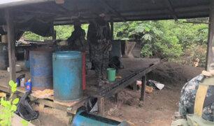 Región Loreto: destruyen seis laboratorios de fabricación de droga
