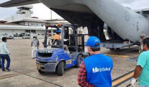 Covid-19: envían 4.7 toneladas de equipos y medicamentos a Loreto