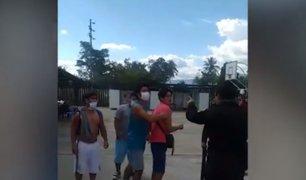 Moyobamba: un grupo de personas que cumplían cuarentena agredieron a policías