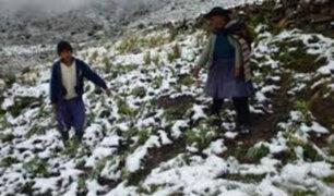Más de 60 distritos de la sierra en riesgo por descenso de temperatura nocturna