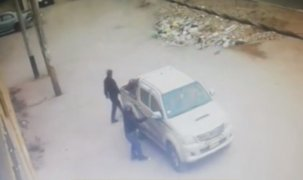 Ladrones encañonan a conductor pero este logra huir antes que le roben