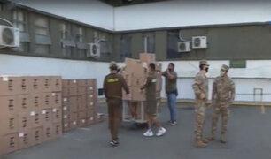 Covid-19: Empresa Teoma Global dona alimentos al Hospital Militar Central