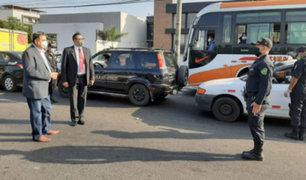 Presidente del Congreso, Manuel Merino felicitó a policías por su esforzada labor