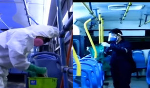 ATU y MTC evalúan medidas tras observaciones de Contraloría por desinfección de buses
