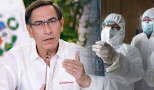 """Martín Vizcarra: """"Perú ya llegó a la cima de contagio, ahora se inicia el descenso"""""""