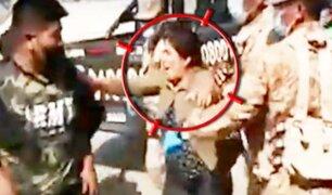 Tacna: mujer agrede a militares para liberar a su hijo luego que fue intervenido