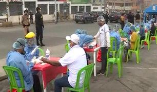 VES: realizan pruebas COVID-19 en mercado 'Plaza Villa Sur'
