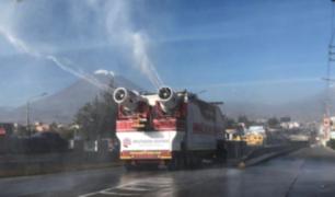 Arequipa: vehículos 'Patriota' y 'Blanquirrojo' desinfectan 14 distritos desde hoy