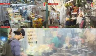 Comerciantes del Mercado N°1 de Surquillo implementaron división entre los stands y clientes