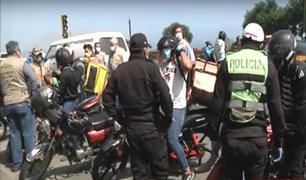 Miraflores: intervienen motos que realizaban delivery sin autorización
