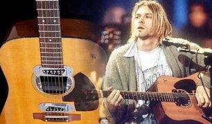 """Kurt Cobain: subastan por un millón de dólares la guitarra con la que grabó el  """"MTV Unplugged"""""""