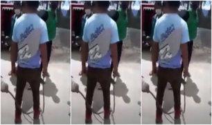 [VIDEO] Piura: ronderos se agarran a latigazos por control de tranquera de un pase vehicular