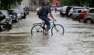 Italia: torrenciales lluvias golpearon Milán en plena pandemia del COVID-19