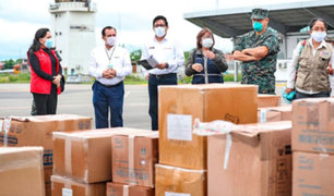 Pucallpa: Premier Vicente Zeballos lleva pruebas rápidas e insumos médicos