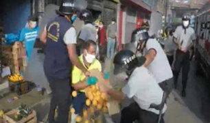 Ate: nuevo enfrentamiento entre ambulantes y serenos durante aislamiento
