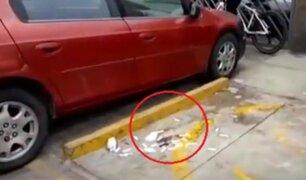 [VIDEO] San Miguel: hallan pruebas rápidas abandonadas para COVID-19 en plena calle