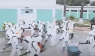 Puente Piedra: desinfectan escuela de suboficiales de la PNP