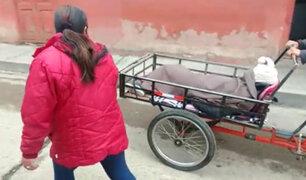 Áncash: trasladan a paciente sospechoso de Covid-19 en triciclo por falta de ambulancia