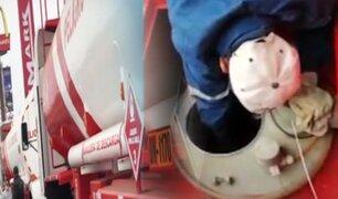 PNP interviene dos camiones cisternas de combustible que trasladaban alcohol