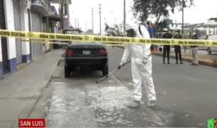 San Luis: muestras de sangre fueron arrojadas cerca al Mercado de Frutas