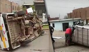 Un muerto y cuatro heridos fue el saldo de un accidente de tránsito en Jicamarca