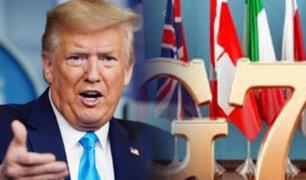 Donald Trump quiere que la cumbre del G7 sea presencial en plena pandemia