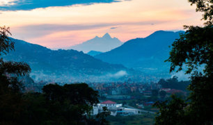 Monte Everest logró ser visto nuevamente desde la capital de Nepal