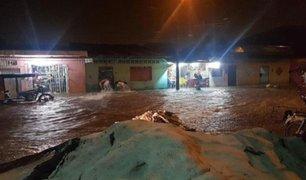 Calles de Iquitos convertidas en ríos tras seis horas de intensas lluvias