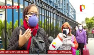 Hospital Almenara: Largas colas para exigir información de pacientes con Covid-19