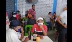 Trujillo: detienen a más de 20 ciudadanos que bebían en cantina