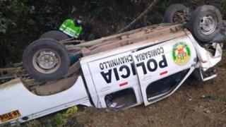 Huánuco: tres policías salen heridos tras despiste de patrullero