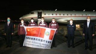 Médicos de China llegan a Perú para atender a pacientes con Coronavirus