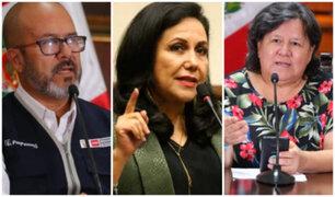 Congreso: ministros Zamora, Montenegro y Luna se presentan mañana a diferentes comisiones