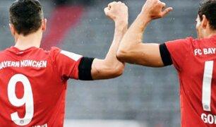 Bayern Múnich sigue líder de la Bundesliga tras golear al Frankfurt