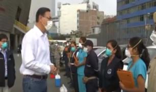 Vizcarra supervisó junto a ministro de Salud equipos de respuesta rápida contra el COVID-19
