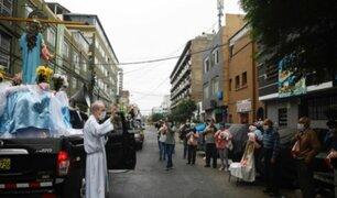[VIDEO] Virgen María fue paseada por calles de Breña en pleno estado de emergencia