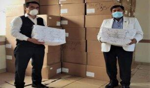 Arequipa: donan mascarillas de tela para población vulnerable