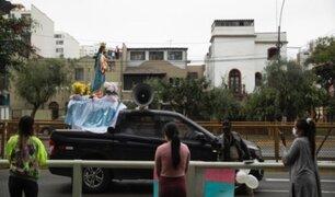 Breña: procesión de Virgen María generó aglomeración de personas