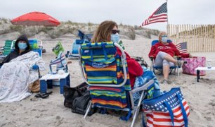 Coronavirus en Estados Unidos: playas y otros espacios públicos lucieron abarrotados de personas