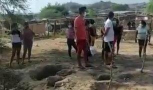 Lambayeque: pobladores queman llantas para evitar entierro de víctima de Covid-19