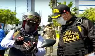 Miraflores: intervienen a 110 repartidores de delivery por no contar con la documentación exigida