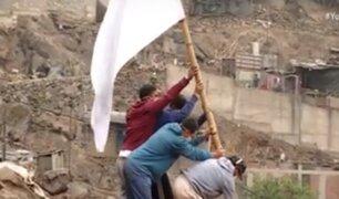 Rímac: asentamiento humano Horacio Zevallos alzan la bandera blanca en busca  de solidaridad