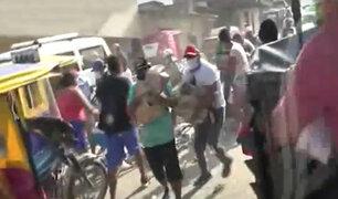 Tumbes: capturan a ciudadanos que saquearon camión repartidor