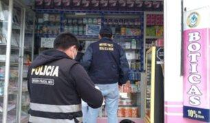 Madre de Dios: incautan productos famacéuticos de rara procedencia en boticas y farmacias