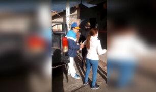Hombre con discapacidad agrede a policía y sereno porque le pidieron que use mascarilla