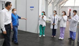 Covid-19: Presidente Vizcarra visitó instalaciones de Centro de Aislamiento Villa Mongrut