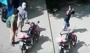Los Olivos: vecinos evitan asalto a joven repartidor