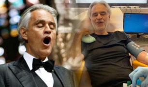 Andrea Bocelli revela que tuvo coronavirus y dona su plasma para investigación