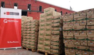 Entregan más de 22 toneladas de alimentos para personas vulnerables en Lima