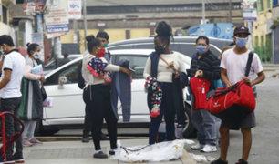 Gamarra: ambulantes se instalan en calles del Cercado de Lima para vender sus productos